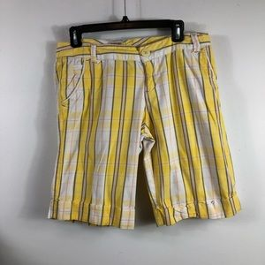 MOSSIMO SUPPLY CO. - Size 9'- Yellow/White Shorts